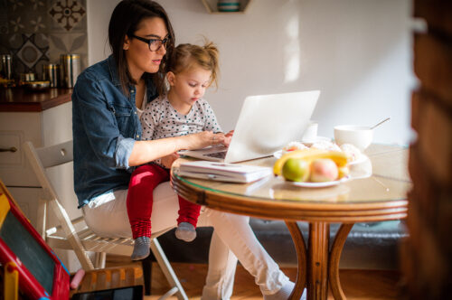 Return to work: mother consider childcare options